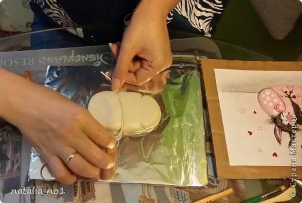 Мастер-класс Поделка изделие Лепка Кот на колбасе - Мастер класс Тесто соленое фото 7
