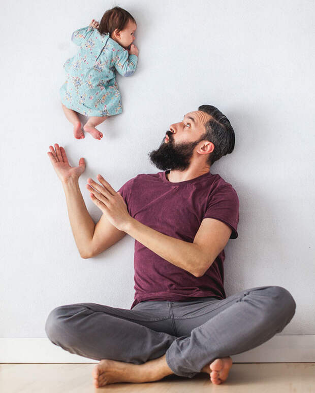 Забавные фотографии игры папы с дочерью