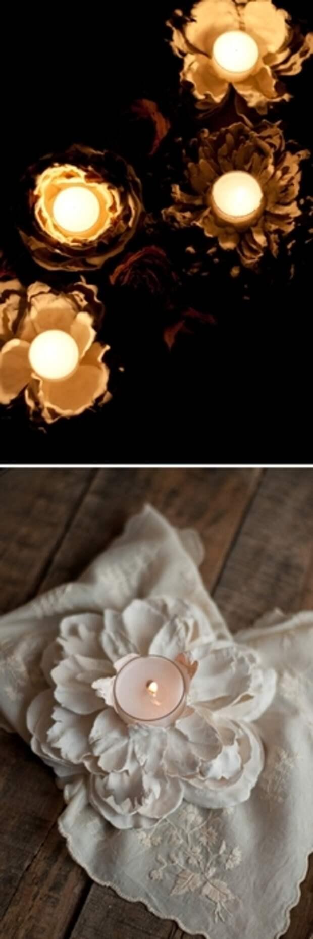 Интересная задумка: необычная вещица из гипса и цветов