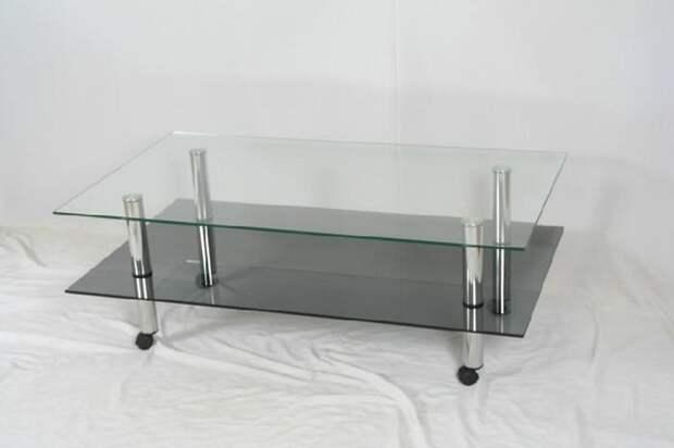 Журнальные столики с металлическими ножками и стеклянной столешницей