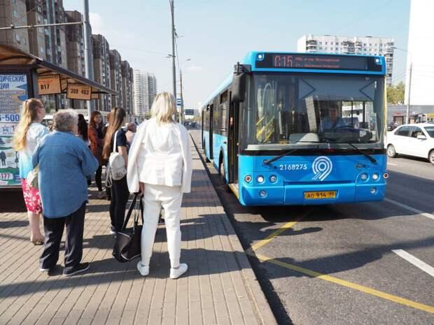 В Бабушкинском автобус С15 будет ходить чаще