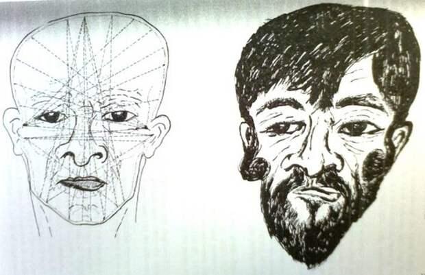 Реконструкция лица Иоханана Бен-Хагалгола, сделанная учёными в 1970 году.