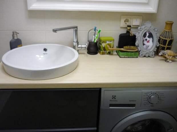 Расположение раковины и стиральной машины
