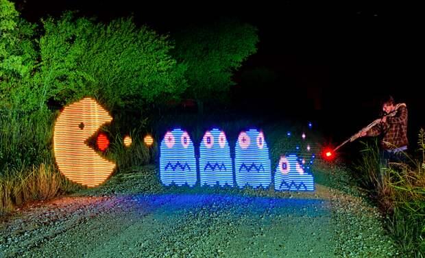 Невероятные работы мастеров светографики