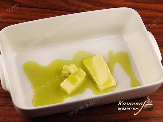 Масло в форме