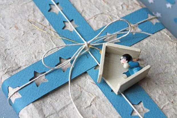 Упаковка подарков...с помощью дырокола (подборка)