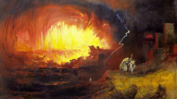 Джон Мартин. Гибель Содома и Гоморры. 1852 год