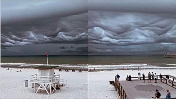 """""""Апокалиптические"""" тучи были замечены у берегов Флориды (видео)"""