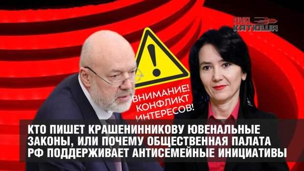 Кто пишет Крашенинникову ювенальные законы, или почему Общественная палата РФ поддерживает антисемейные инициативы