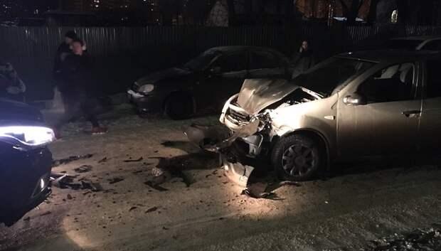 Водитель иномарки совершил двойное ДТП в Подольске