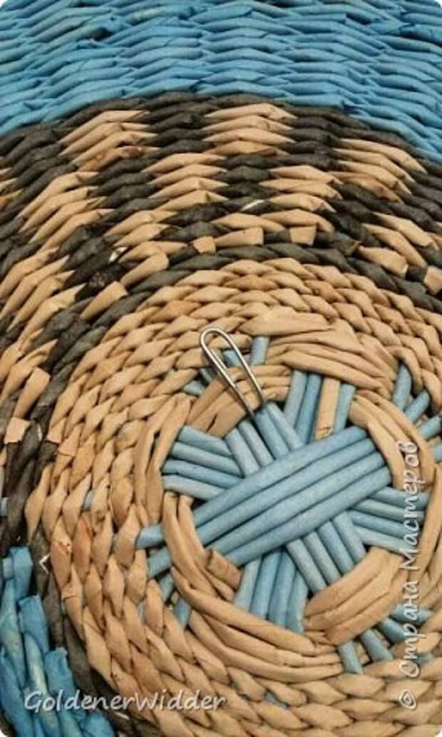 Мастер-класс Плетение Панно 40 см Спиральное плетение Бумага газетная Трубочки бумажные фото 29