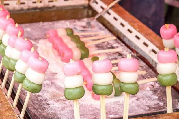 Dango (данго) вкусно, еда, необычные продукты, сладости, япония
