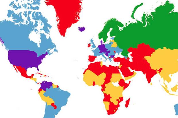Карта мира девушек по размеру груди: теперь мы знаем, куда ехать в отпуск!