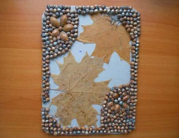 рамка для фото из природных материалов