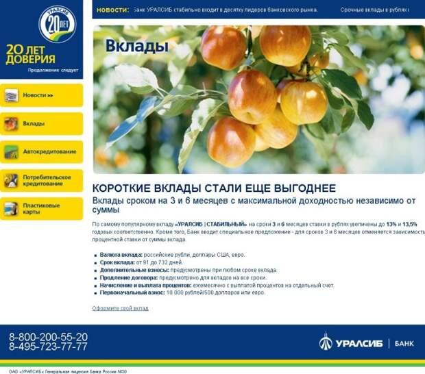 «Уралсиб-бонус»: эзотерический промо-сайт от iTrack