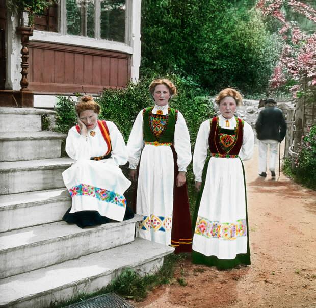 Цветные фотографии красот Норвегии (1900 Год)