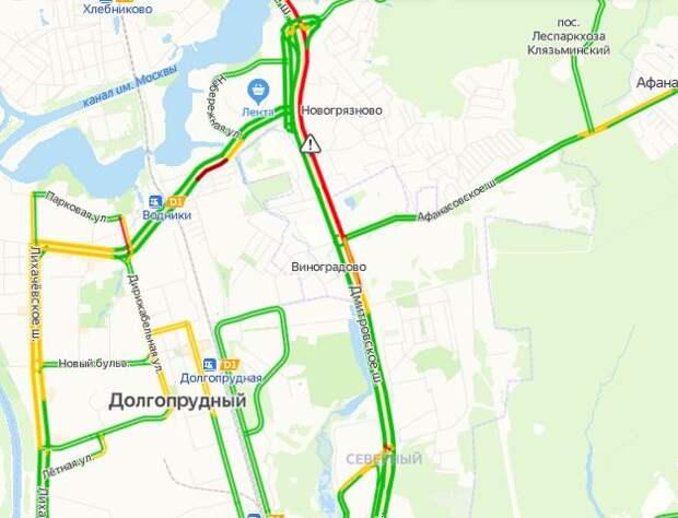 Загруженность Дмитровского шоссе 29 мая – 5 баллов