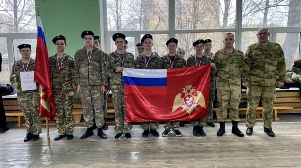 Кадеты подшефного класса Росгвардии приняли участие в соревнованиях между военно-патриотическими клубами региона