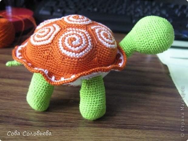 Игрушка Мастер-класс Вязание крючком изготовление Черепашки Пряжа фото 24
