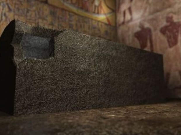 Загадочные саркофаги в подземном храме Гизы