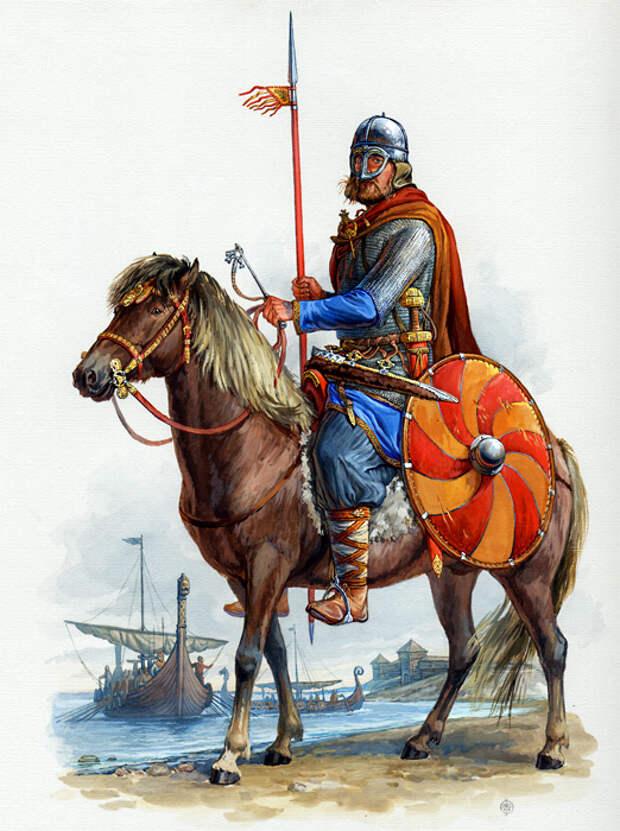 Знатный скандинавский воин русской дружины. Середина X века.