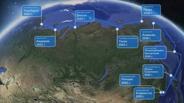 Началась укладка трансарктической оптоволоконной линии «Полярный экспресс» Мурманск– Владивосток