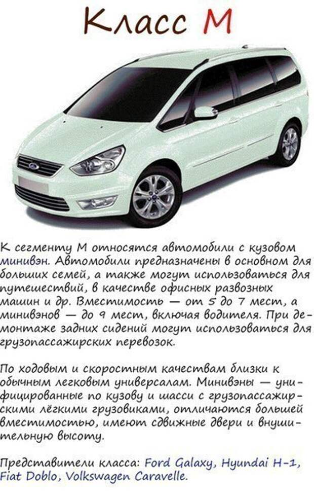 Классификация автомобилей 7
