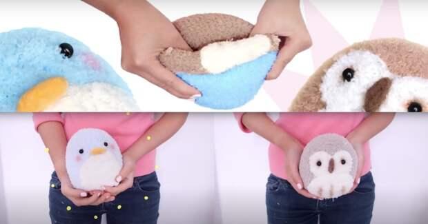 Милая игрушка-вывернушка из носка. Очень просто