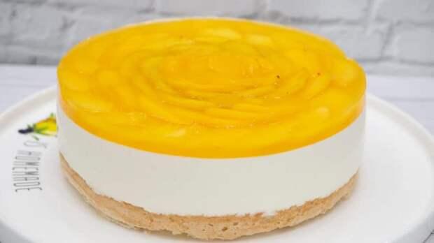 Торт-суфле Персик без выпечки. Нежное лакомство с любимыми фруктами без лишних хлопот 2