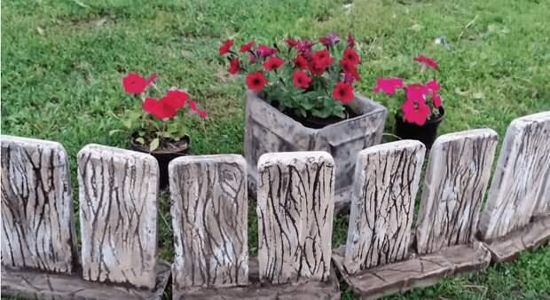 Правильное и красивое использование лотков от рассады для украшения сада