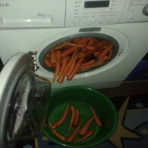 Морковь в стиралке
