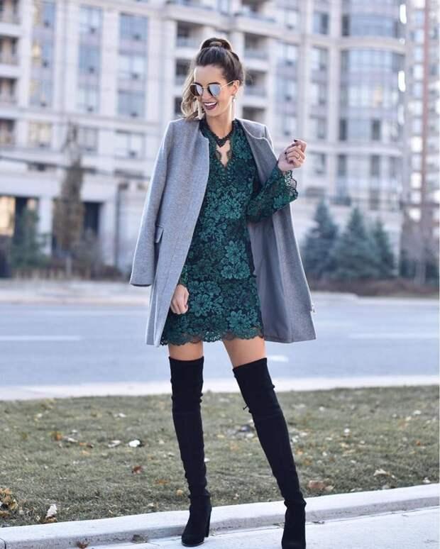 Стильные зимние повседневные платья 2020: трендовые варианты
