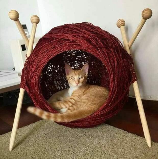 Кот который вяжет (подборка лежанок)
