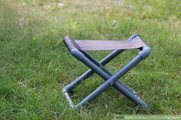 Складной стульчик из ПВХ своими руками