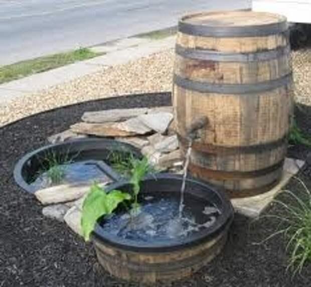 Миниатюрный водоем с каскадом