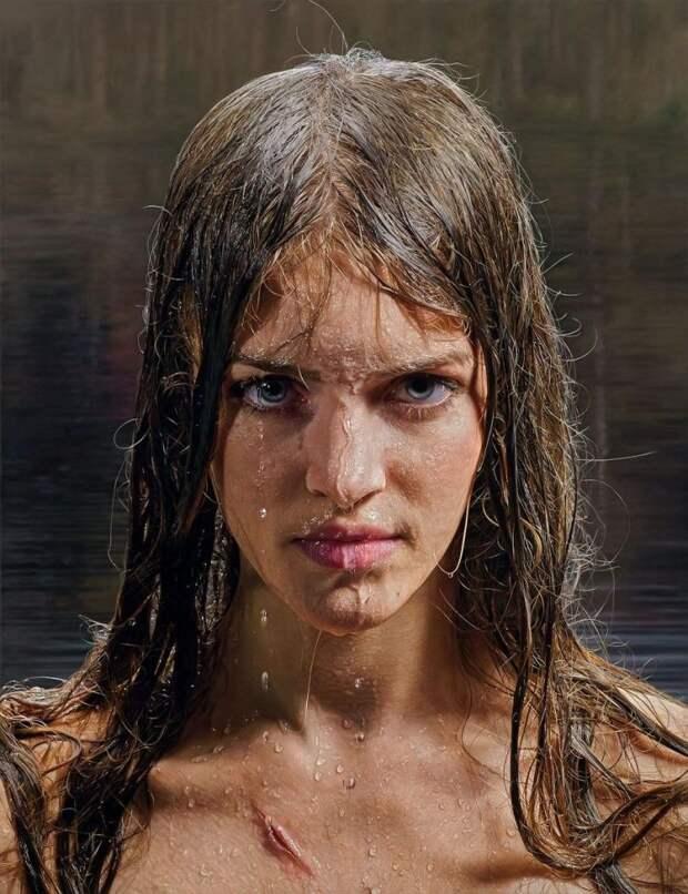 Художник создает гиперреалистичные портреты, которые не отличить от фотографии