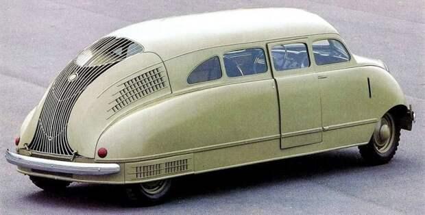 Даже на виде сзади Scarab претендует на смелую оригинальность форм и облицовки авто, автодизайн, автомобили, дизайн, интересные автомобили, минивэн, ретро авто