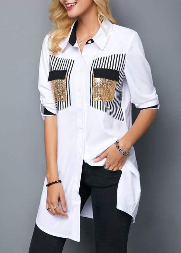 Детали необычных блузок (трафик)