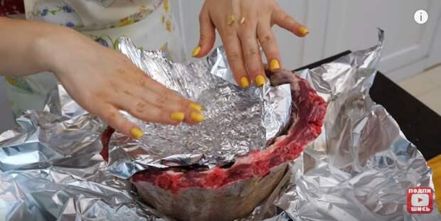 """Коронное горячее блюдо на Новый год """"Мясной пенёк"""""""