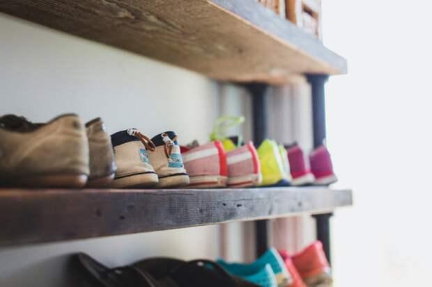Полки для обуви (обувница): лучшие идеи