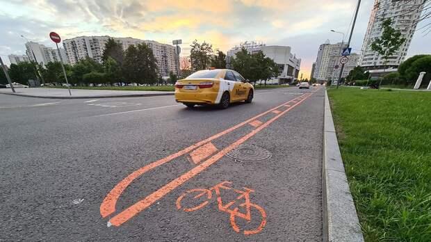 Временные велополосы появились в четырех районах Москвы