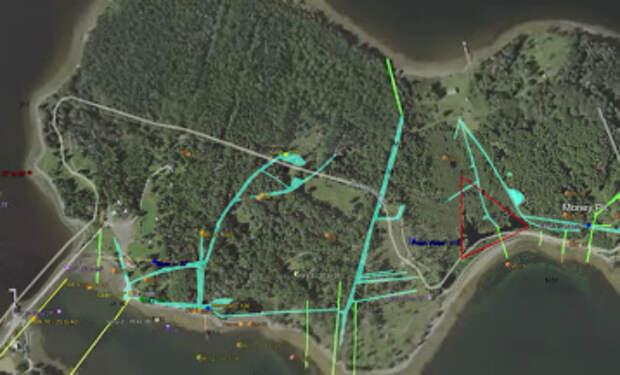 Клад на острове Оук ищут уже 200 лет. Под всем островом выкопана сеть шахт, смысл которых ученые не понимают