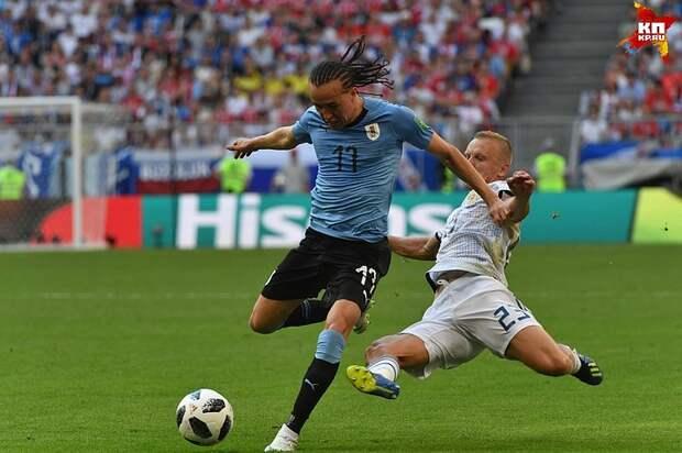 Россия проигрывает 0:2 Уругваю после первого тайма на ЧМ-2018