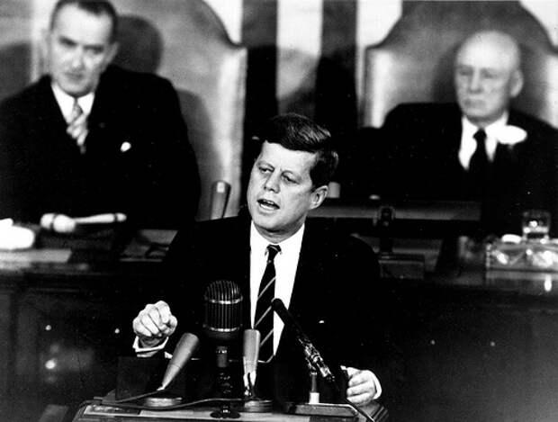 John F. Kennedy Giving Historic Speech to Congress