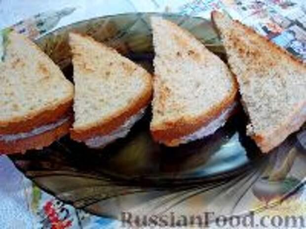 Фото приготовления рецепта: Сэндвичи с форшмаком - шаг №14