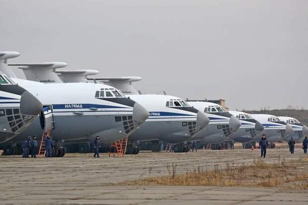 ВКС РФ подготовили девять военно-транспортных Ил-76 для полётов в Италию