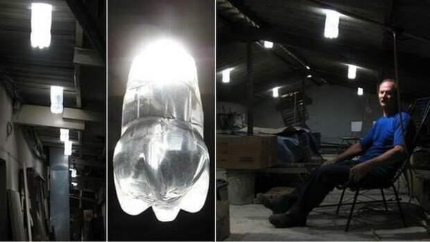 """""""Литр света"""": как ПЭТ бутылка и литр воды освещают тысячи домов без электричества"""