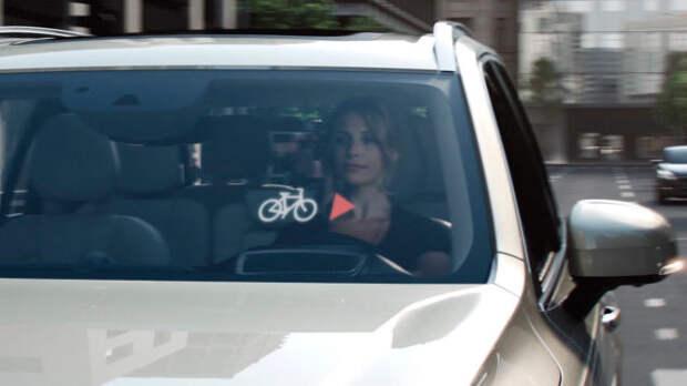 Дружба водителя и велосипедиста