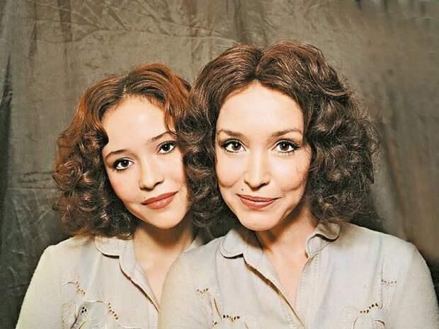 Анна и дочь Саша Самохина