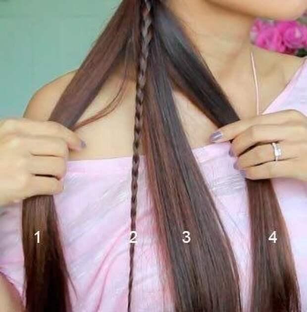 Плетем красивую косу. Мастер-класс.